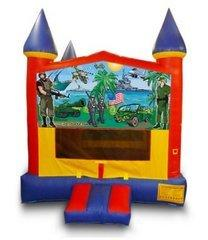 Military Themed Castle Bouncer  - Medium