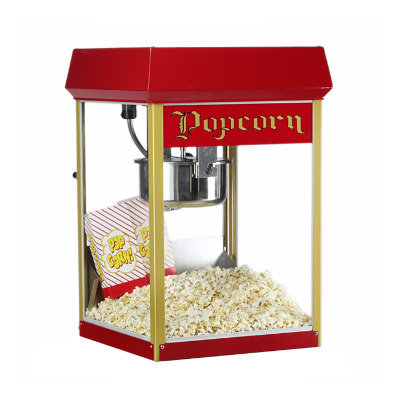 Popcorn Machine Large Red 8oz Tabletop