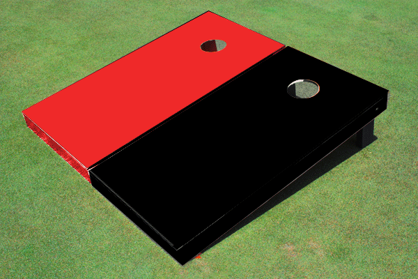 Cornhole Game Black/Red