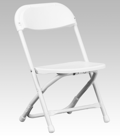 White Folding Children's Chairs
