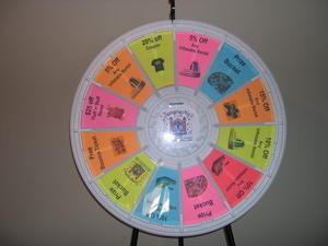 Large Prize Wheel with Stand
