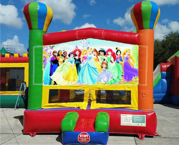 Princess and Friends Balloon Bounce House