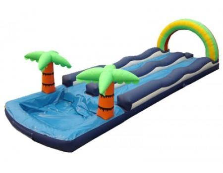 38ft Dual Lane Slip N Slide w/ Pool