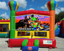 Mine Craft Balloon Bounce House
