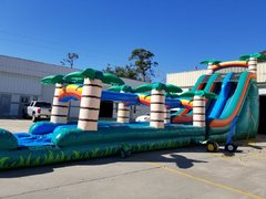 22ft Tropical Duel Lane Slip & Slide