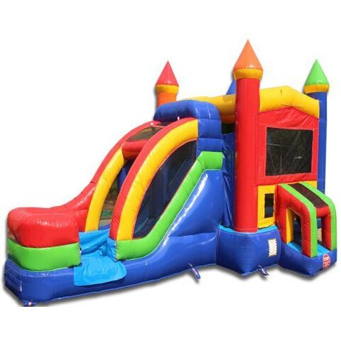 Rainbow  Castle Module with Water Slide