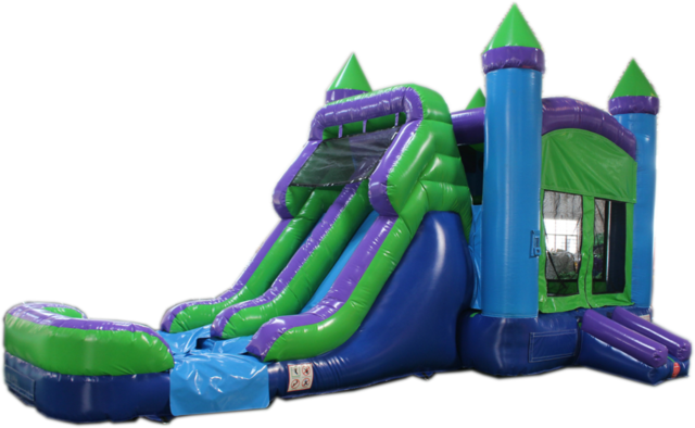 Xlarge Blue and Green Combo with water Slide