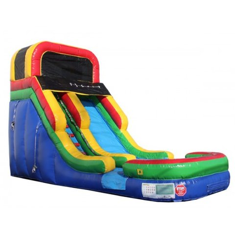 17' Primary Color  Water Slide
