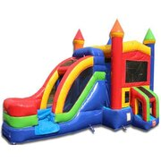 Rainbow Castle  Module with Water Slide, same day drop off and pick up or 3 day rental, drop off Friday, Pick up Monday for the same one day price