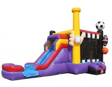 Xlarge Sports Castle w/ Waterslide, same day drop off and pick up or weekend rental, drop off Friday, Pick up Monday for the same one day price.