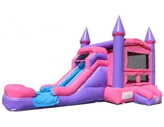 XLarge Princess Combo with Water Slide, same day drop off and pick up or weekend rental, drop off Friday, pick up Monday for the same one day price