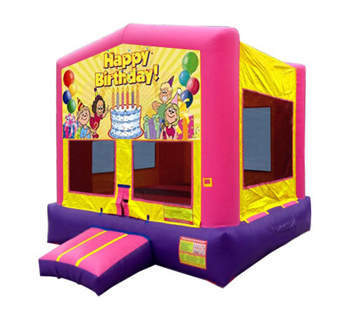 Pink And Purple Birthday Bounce House