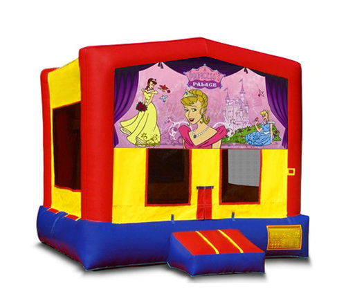 Blue And Red Princess Bounce House