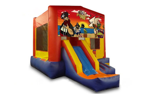 Red And Blue Pirates Bounce House With Slide