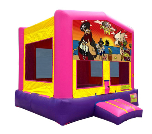 Pink And Purple Pirates Bounce House