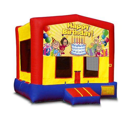 Blue And Red Birthday Bounce House