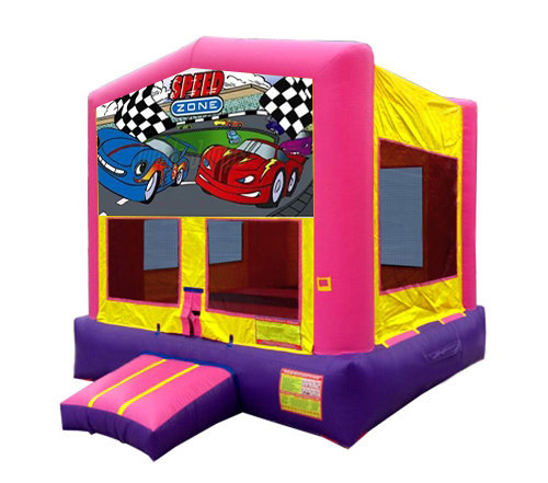Pink And Purple Cars Bounce House