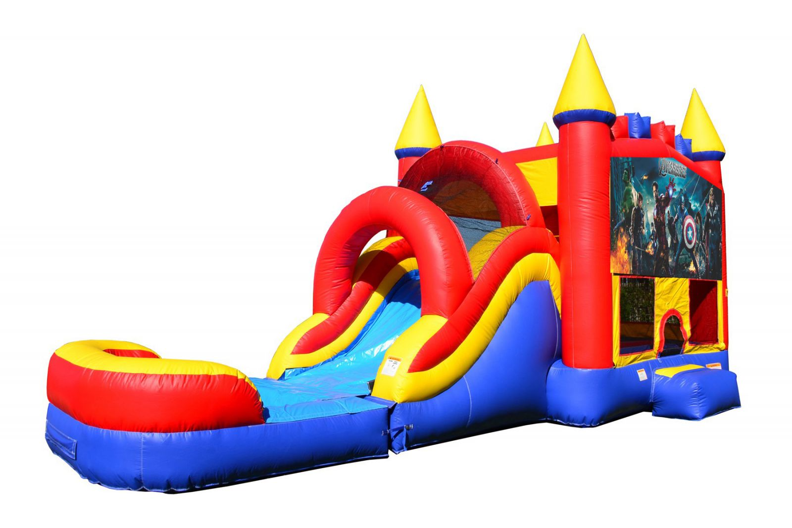 Avengers Bounce House With Water Slide And Pool