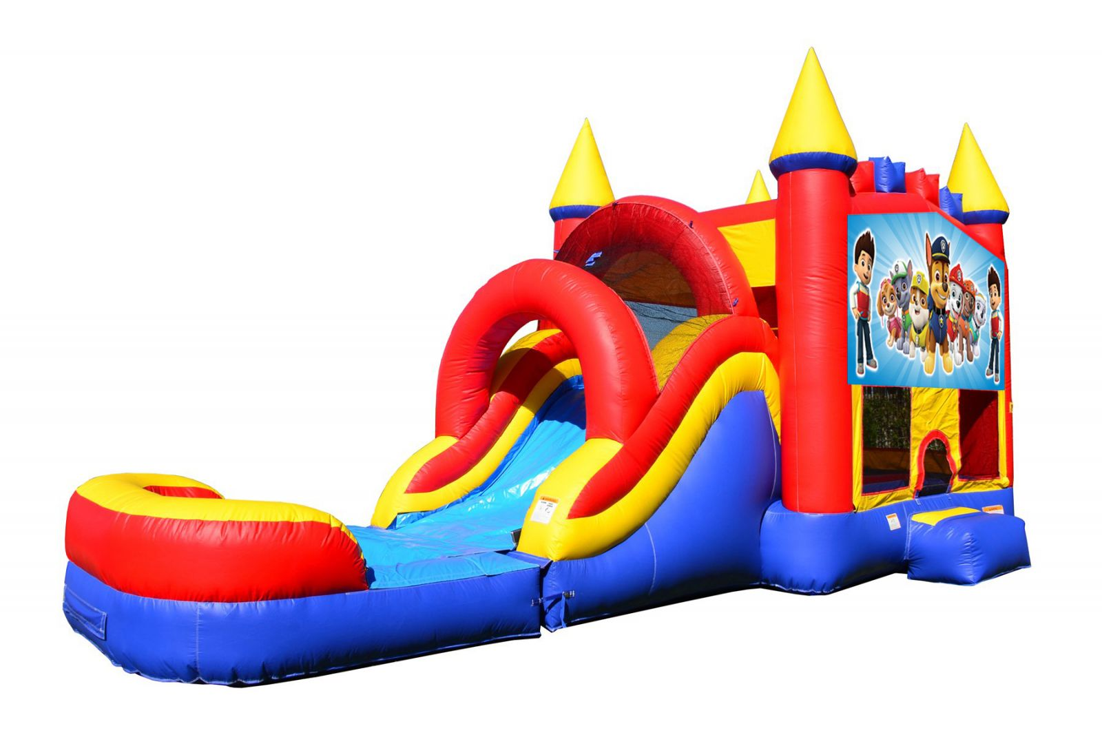 Paw Patrol Bounce House With Water Slide And Pool