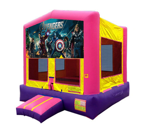 Pink And Purple Avengers Bounce House