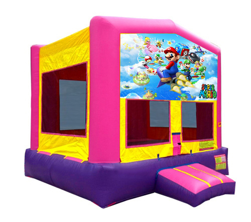 Pink And Purple Mario Brothers Bounce House 2