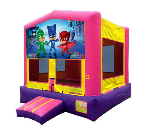 Pink And Purple PJ Masks Bounce House