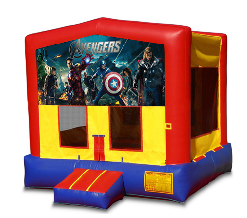 Blue And Red Avengersl Bounce House