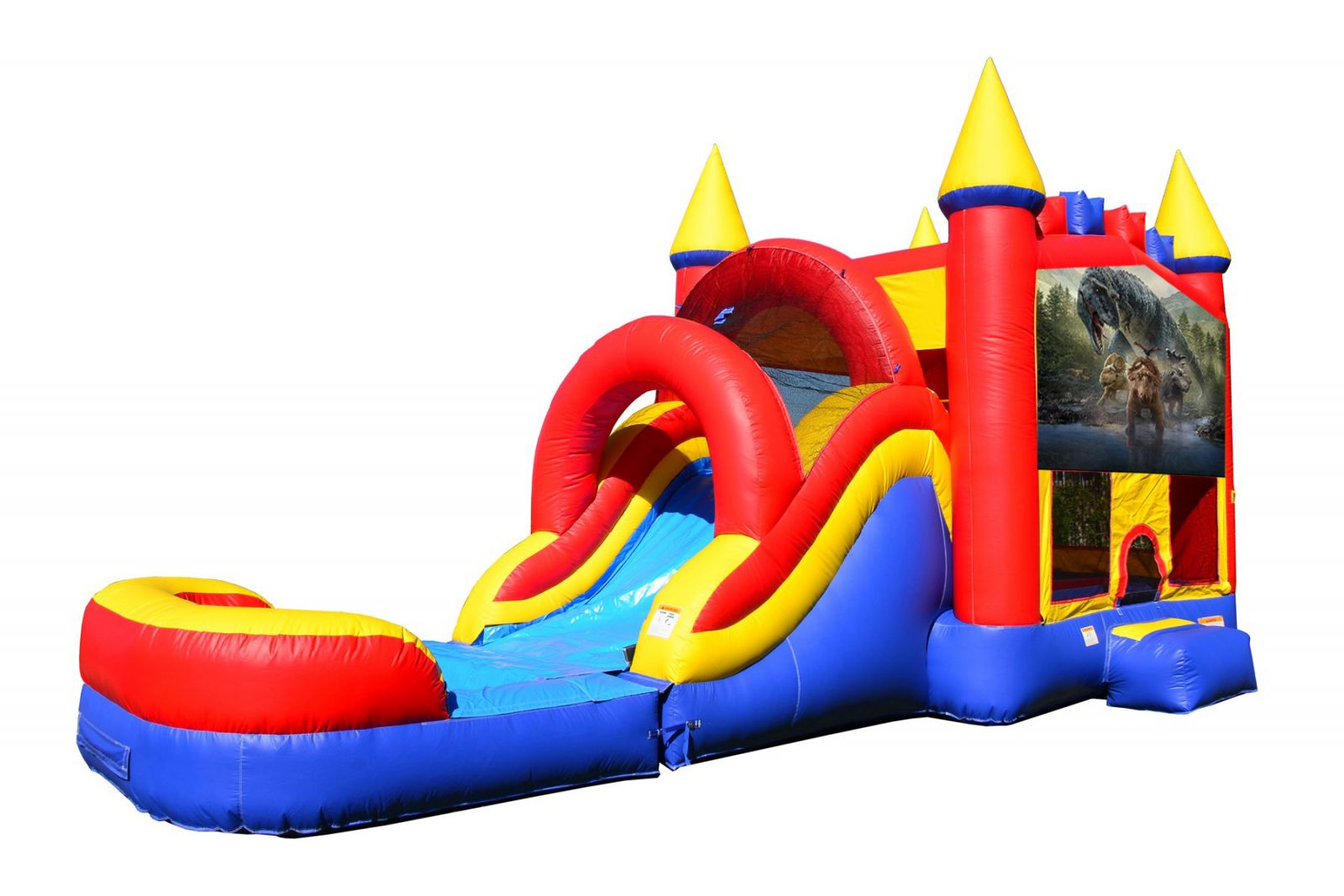 Dinosaur Bounce House With Water Slide And Pool