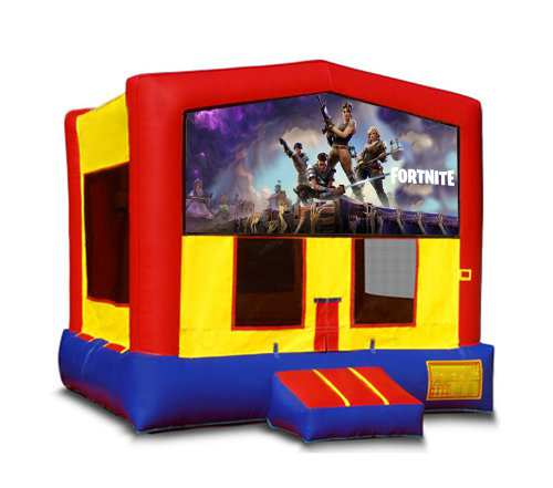 Blue And Red Fortnite Bounce House