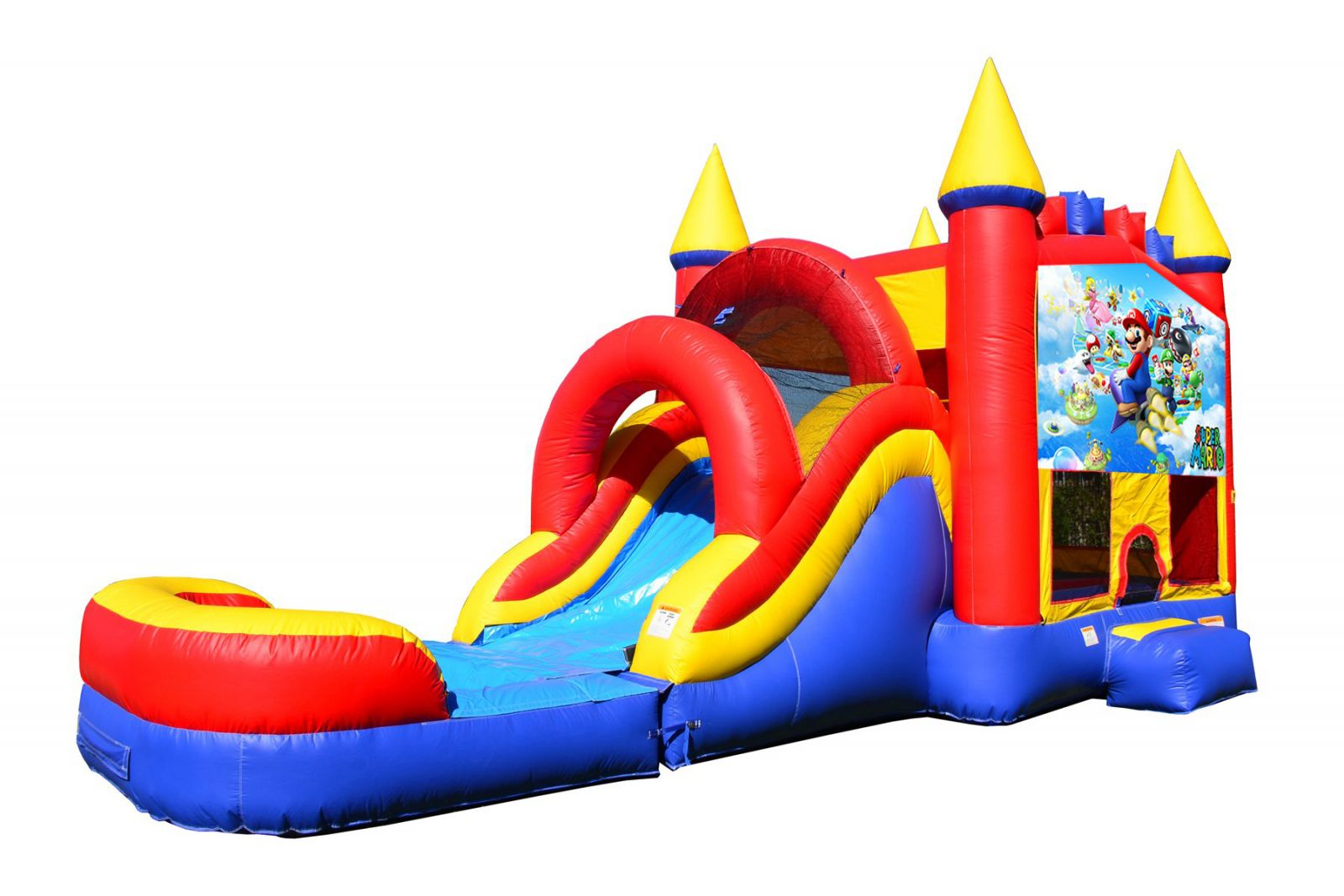 Mario Bounce House With Water Slide And Pool