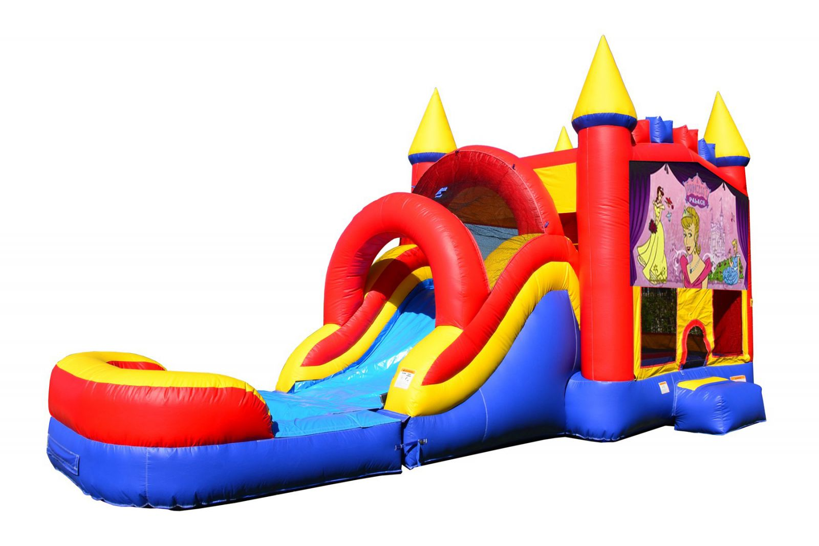 Princess Bounce House With Water Slide And Pool