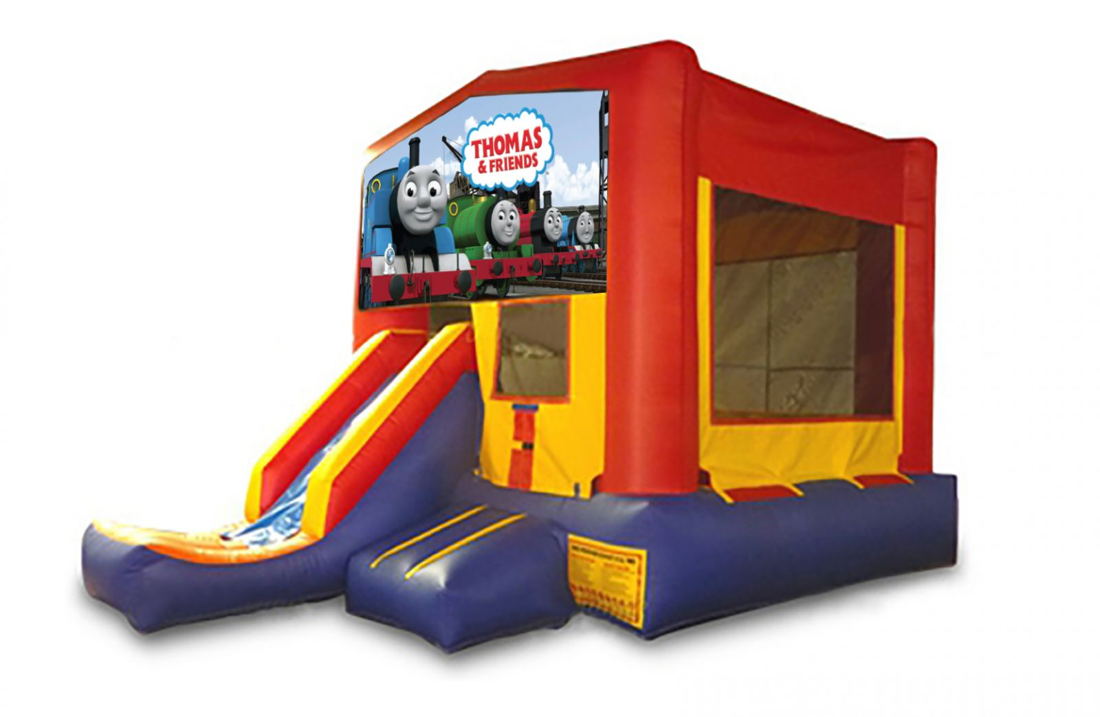 Red And Blue Thomas The Trainl Bounce House With Slide