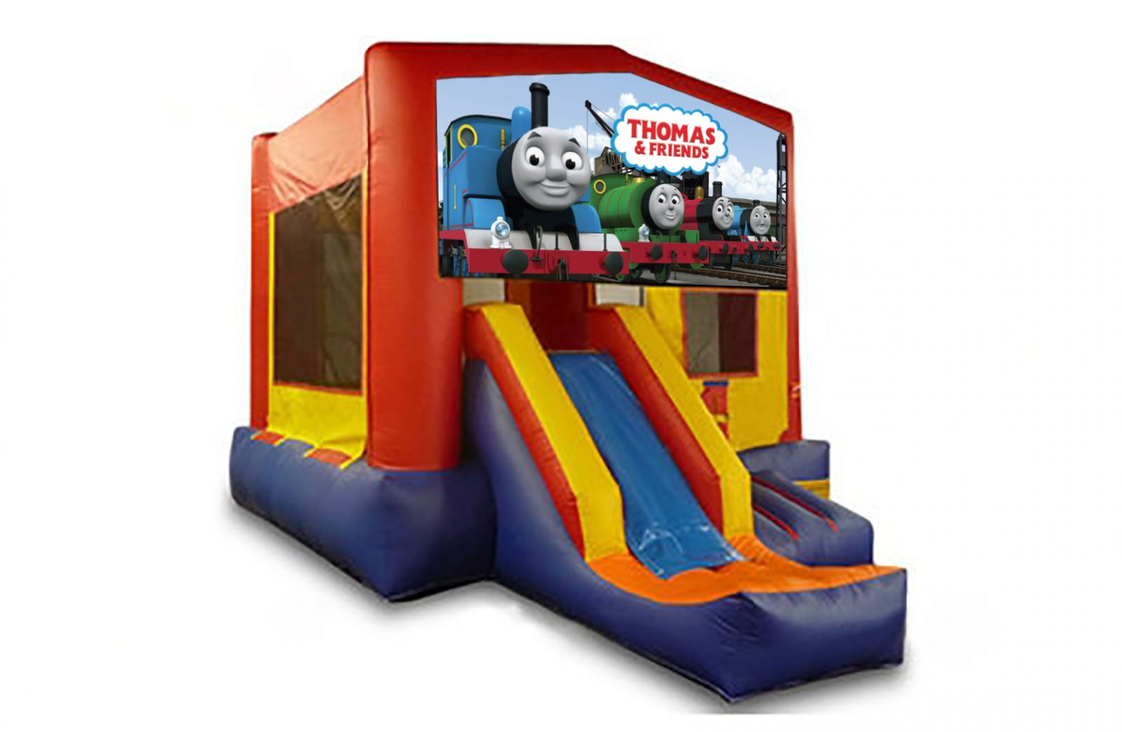 Red And Blue Thomas The Train Bounce House With Slide