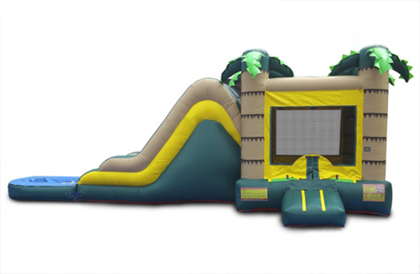 Tropical Combo Water Bounce House With Slide And Pool