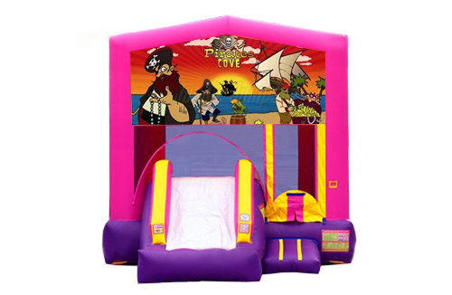 Pink And Purple Pirates Bounce House With Slide
