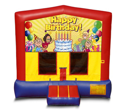 Blue And Red Birthday Premium Bounce House
