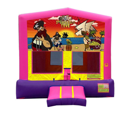 Pink And Purple Pirate Premium Bounce House