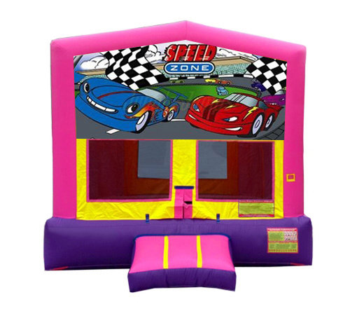 Pink And Purple Car Premium Bounce House