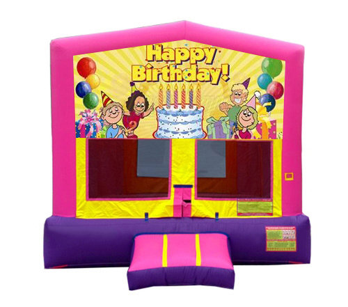 Pink And Purple Birthday Premium Bounce House
