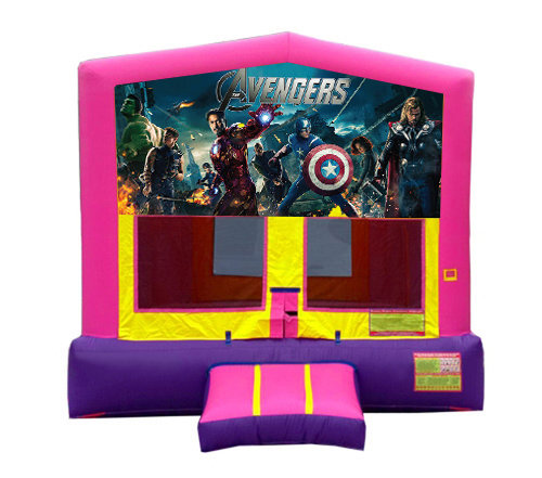 Pink And Purple Avengers Premium Bounce House