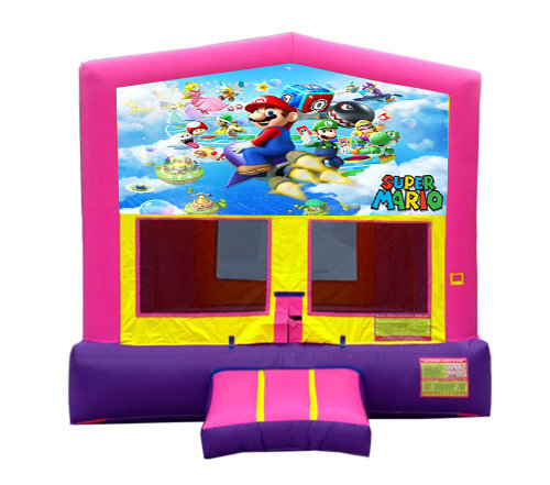 Pink And Purple Mario Brothers Premium Bounce House