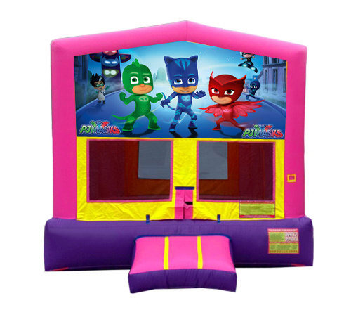 Pink And Purple PJ Masks Premium Bounce House