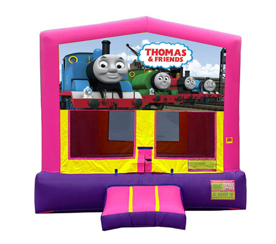 Pink And Purple Thomas The Train Premium Bounce House