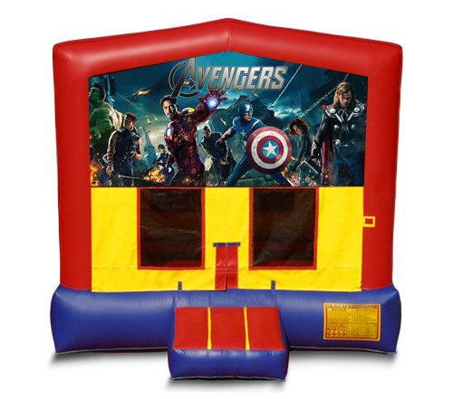 Blue And Red Avengers Bounce House