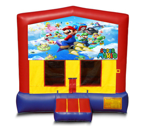 Blue And Red Mario Brothers Premium Bounce House