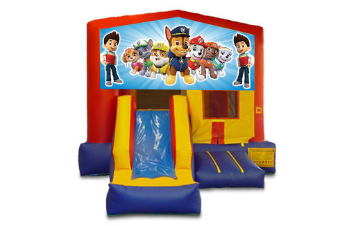 Red And Blue Paw Patrol Bounce House With Slide