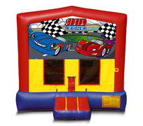 Blue And Red Car Premium Bounce House