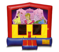 Blue And Red Princess Premium Bounce House