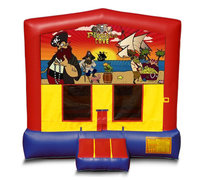 Blue And Red Pirate Premium Bounce House