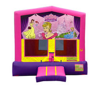 Pink And Purple Princess Premium Bounce House